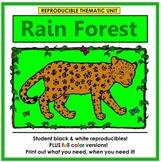 Rain Forest Thematic Unit