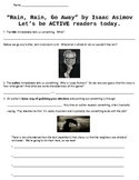 """Rain, Rain, Go Away"" Short Story by Asimov - Active Readi"