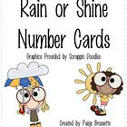 Rain or Shine Number Cards