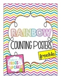 Rainbow Counting Posters Freebie
