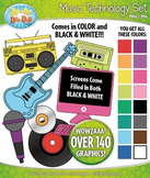 Rainbow Music Technology Clipart Set — Over 140 Graphics!