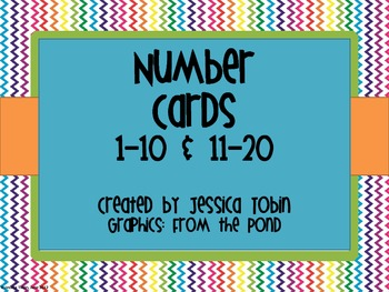 Rainbow Number Wall Cards: 1-10 and 11-20