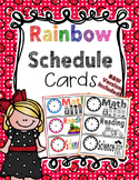 Rainbow Schedule Cards
