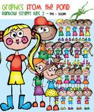 Rainbow Scrappy Kids Set 2 Clipart