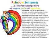 Rainbow Sentences - a sentence building activity