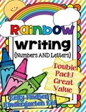 Rainbow Writing Letters and Numbers