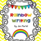 Rainbow Writing Spelling Words (editable)