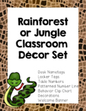 Rainforest Jungle Classroom Theme Decor  (Number Line, Beh