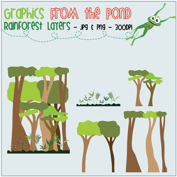 Rainforest Layers - Color & Line Art Graphics for Teaching