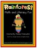 Rainforest Math and Literacy Fun