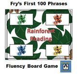 Rainforest Reading - Fry's 1st 100 Common Phrases Fluency Game