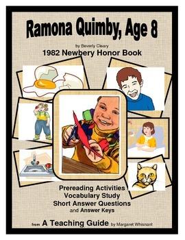 Ramona Quimby, Age 8  Prereading/Vocabulary/Short Answer Q