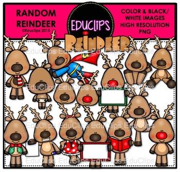 Random Reindeer Clip Art Bundle