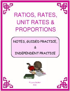 Ratios, Rates, Unit Rates & Proportions Mini Bundle ~ Common Core