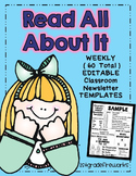 Read All About It...Editable Classroom Newsletters