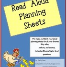 Read Aloud Plan Sheets (Bloom's higher level questions)