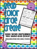 Read Color Circle Create Sight Word Printables-ALL 41 Firs