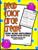 Read Color Circle Create Sight Word Printables-ALL Second