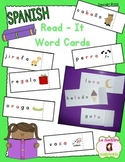 Syllable Decoding: Read-It Word Cards (Spanish)