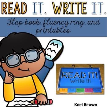 Read It! Write It! {Fluency Flap Book & Ring}