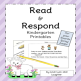 Read and Respond Printables for Kindergarten: Spring