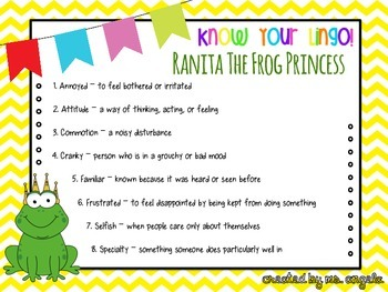 Reader's Theater, Ranita The Frog Princess