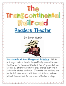 Readers Theater for The Building of the Transcontinental Railroad