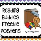 Reading Buddies Freebie Posters, Cards and Bookmarks Back