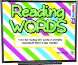 Reading CVC Words SMART BOARD Game