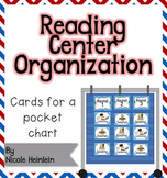 Reading Center Organization Cards - Blue and Red