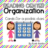 Reading Center Organization Cards - Blue and Green
