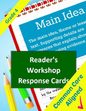 Reading Common Core Response Stems for Student Journals -