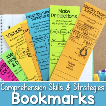 Reading Comprehension Bookmarks {Skills & Strategies}