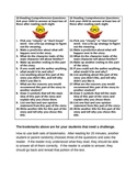 Reading Comprehension Questions Bookmark