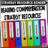 Reading Comprehension Strategy Resource Binder