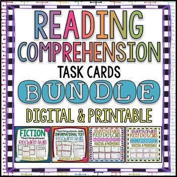 Reading Comprehension Task Card Bundle {Fiction & Nonfiction}