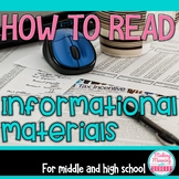 Reading Informational Materials PowerPoint