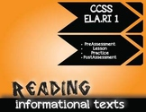 Informational Texts (R.I.1)-Modern Issues, 3-Day Lesson OR