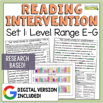 Reading Intervention Program: Set One Levels E-G