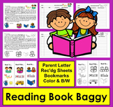 Reading Log Book Baggy and Parent Letter