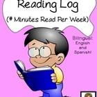 Reading Log (Bilingual English + Spanish) -- Minutes Read
