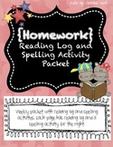 Reading Log & Spelling HW Packet