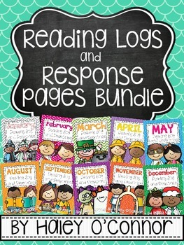 https://www.teacherspayteachers.com/Product/Reading-Log-and-Response-Bundle-for-the-Whole-Year-1587352