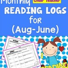 Reading Logs 10 MONTH Set  -  Print & Go!