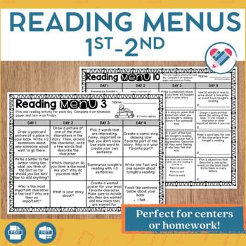 Reading Menus 1st-2nd