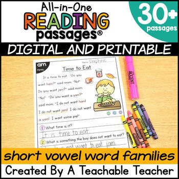 Reading Passages - Short Vowel Word Families
