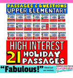 Reading Comprehension Passages and Questions Bundle