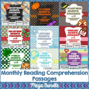 Monthly Reading Passages with Comprehension Questions (September - May)
