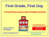 """Beginning of the Year Reading PowerPoint Lesson """"First Gra"""