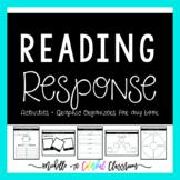 Reading Response Activities {Graphic Organizers Galore!}